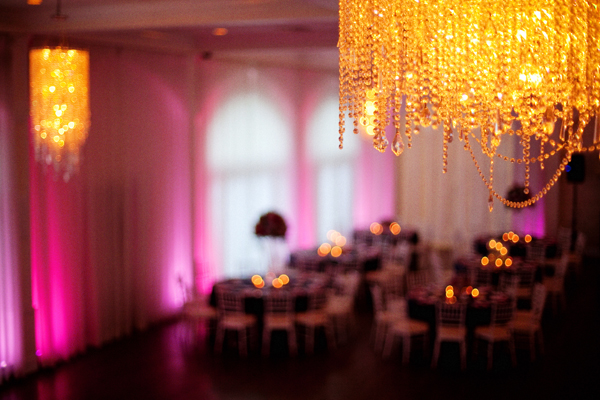 Do you recognize this photo? It's the same location as the first photo in this blog post but later in the day as the colors of pink deepen and bring out the candlelight to set the mood for dancing and mingling with guests.