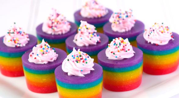Thirsty Thursday: Double Rainbow Cake Jelly Shot — Boston Wedding ...