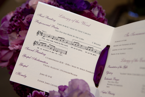 This bride had the music from her Catholic Mass as part of her program. We loved this musical detail!
