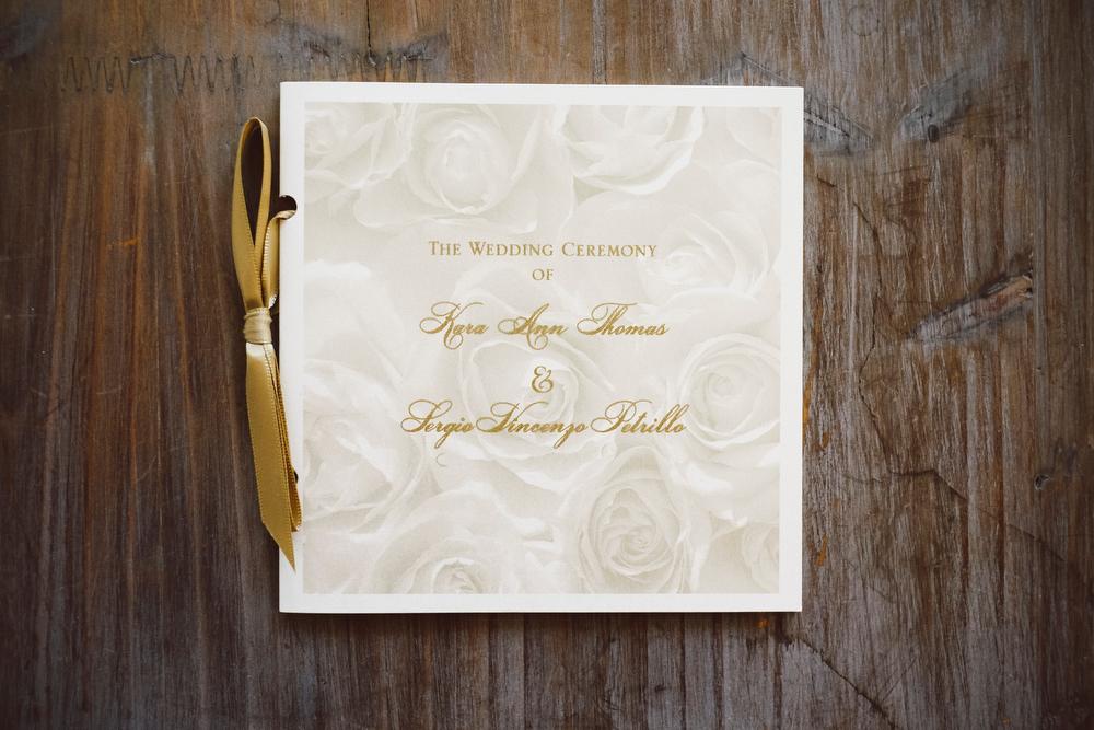Gold and Ivory Wedding Ceremony Program