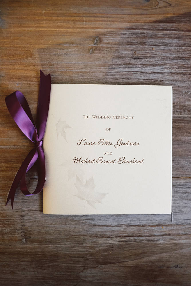 Light Champagne & Eggplant Ceremony Program