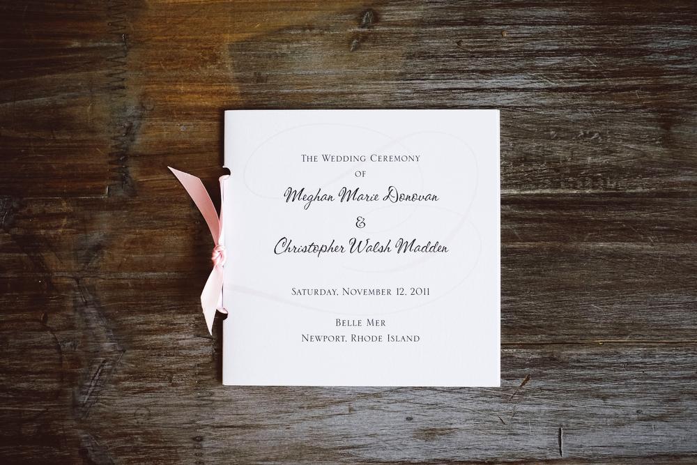 White, Black & PInk Ceremony Program