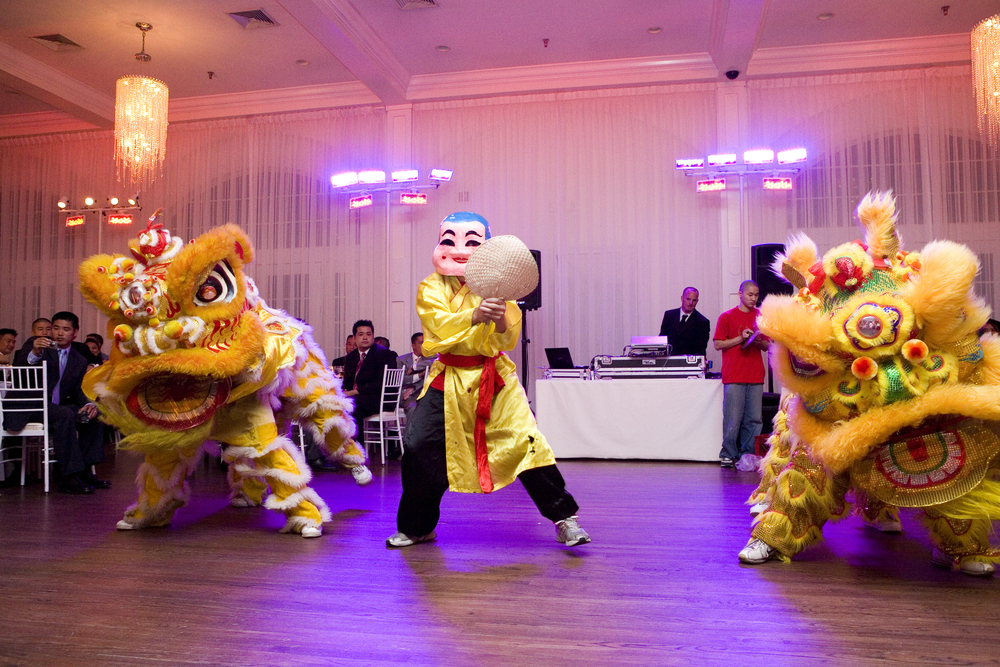 A Lion Dance kicks off the reception!