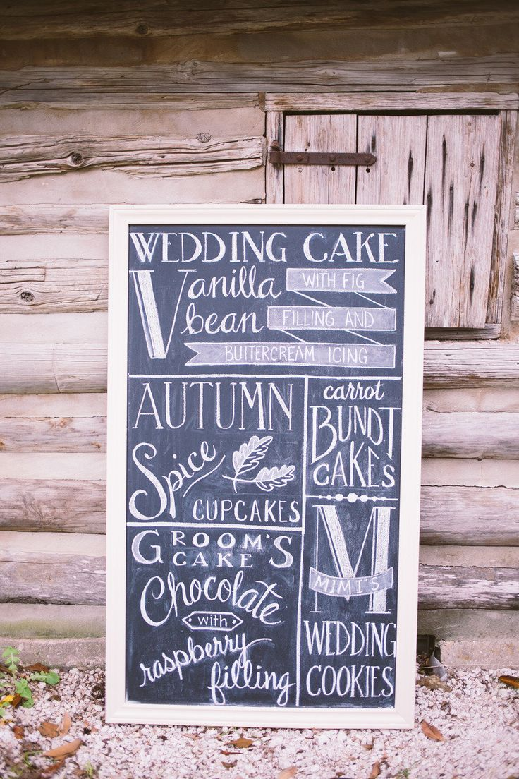 We love sweets and this sign for wedding desserts takes the cake!