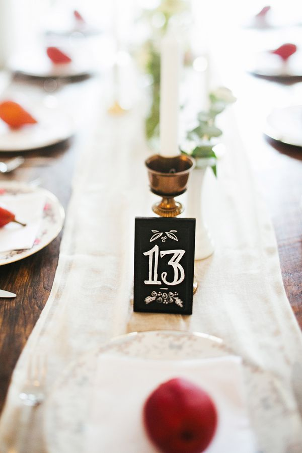 These charming petite table numbers stand out and are noticable but not overpowering on a table.