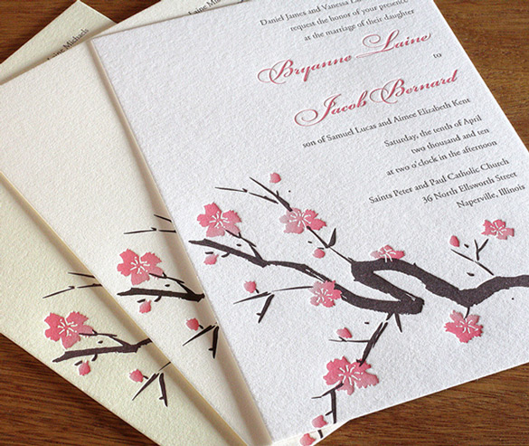 These letterpress invitations are stunning!