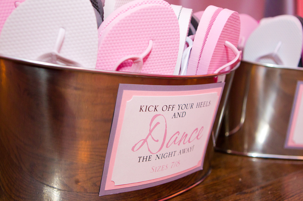 We created these fun signs for her flip flops