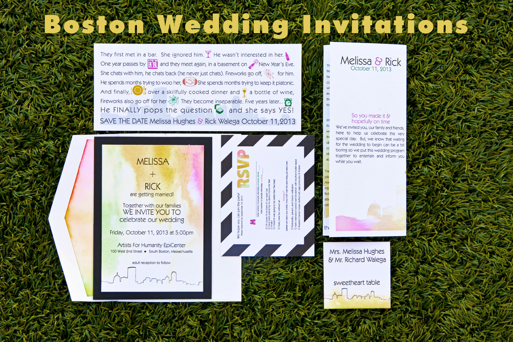 trending tuesday boston themed wedding invitations personal chef