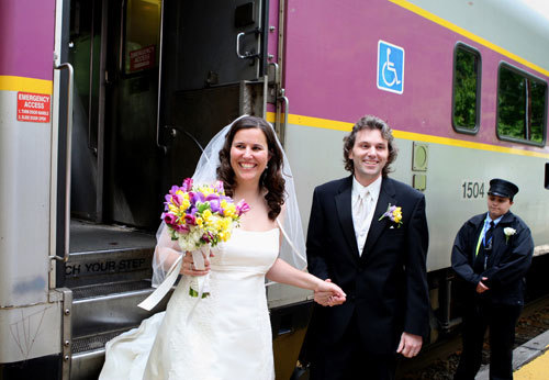 An alternative to a church wedding is getting married on a train! Aisle and seats are already there! :)