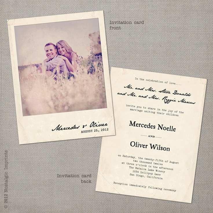 We love these Vintage Inspired Wedding Invitations!