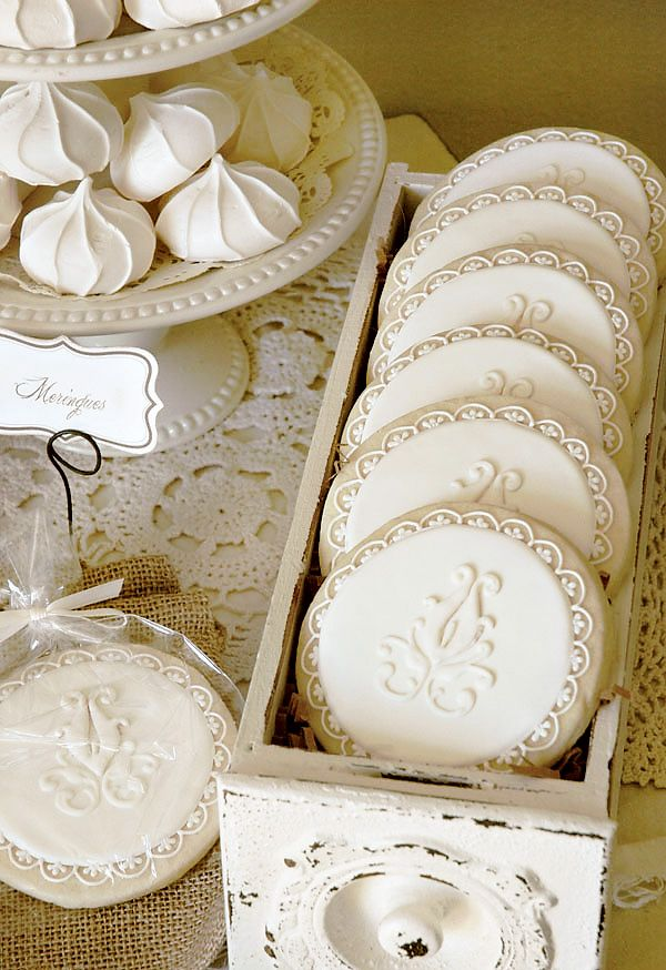 These special sugar cookies with intricate royal icing work is just beautiful!