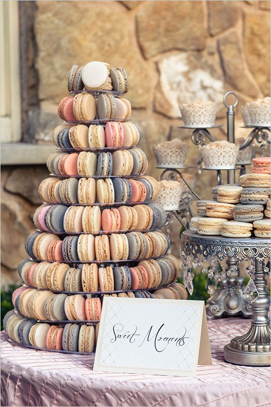Macarons are so trending right now but the cookie has been around a long time! It can be colored to match your wedding palette and filled with many different kinds of fillings. We love this Macaron Tower as a way to display these delicious cookies.