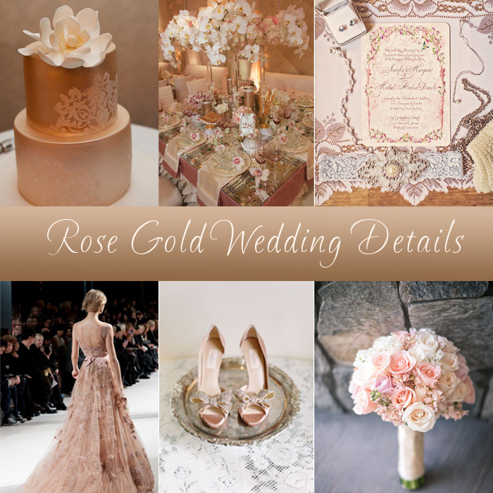 Wedding Wednesday Rose Gold Wedding Details Boston