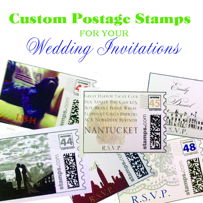 Dear Donna: Custom Stamps for Wedding Invitations — The Perfect