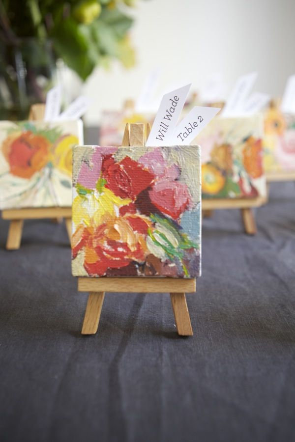 These mini easels are so adorable and charming in every way!!