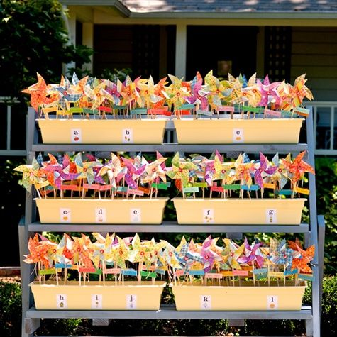 How fun to have pinwheels!
