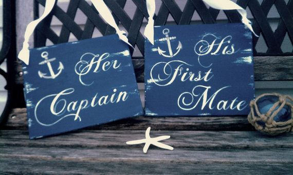Chair Signs for a perfectly military themed wedding!