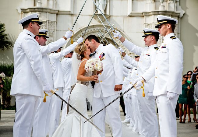 Image result for Navy wedding arch sword