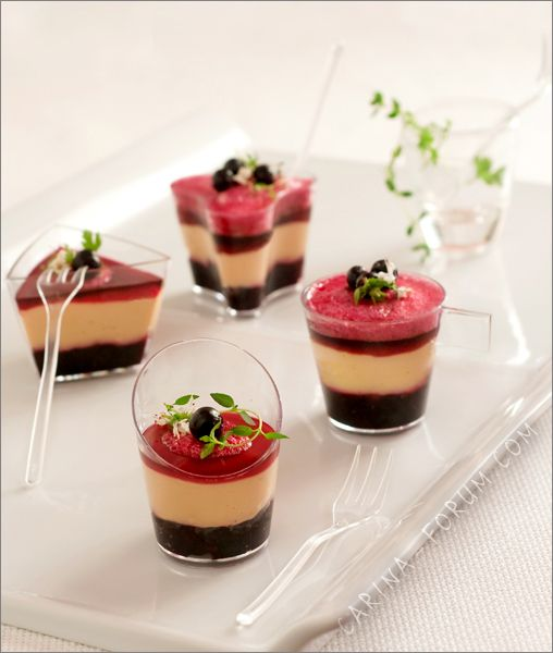 We love this stunning presentation of foie gras and black currant. Très bien!