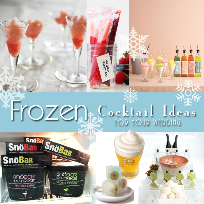 Thirsty Thursday: Frozen Wedding Cocktail Ideas
