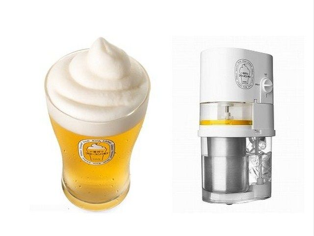 Do you hate it when your beer gets warm because it's hot outside? Enter the Beer Slushie Machine that puts a frozen head on top of your beer to keep it cool. Genius!
