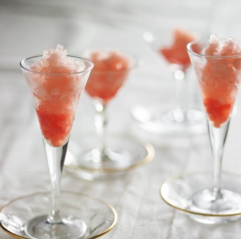 Grapefruit and Campari Granita would be so refreshing at the end of a meal or in between courses as a palate cleanser.