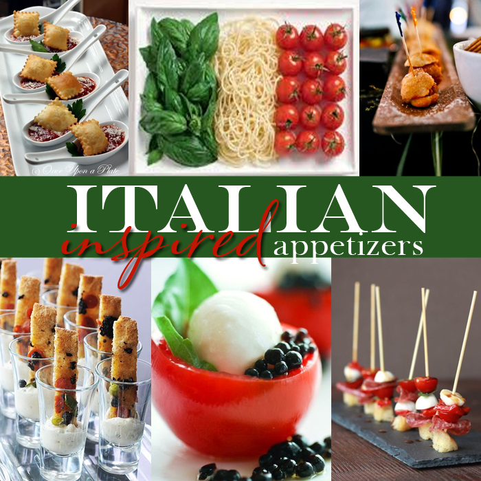 Yummy Monday Italian Inspired Wedding Appetizers Dinner