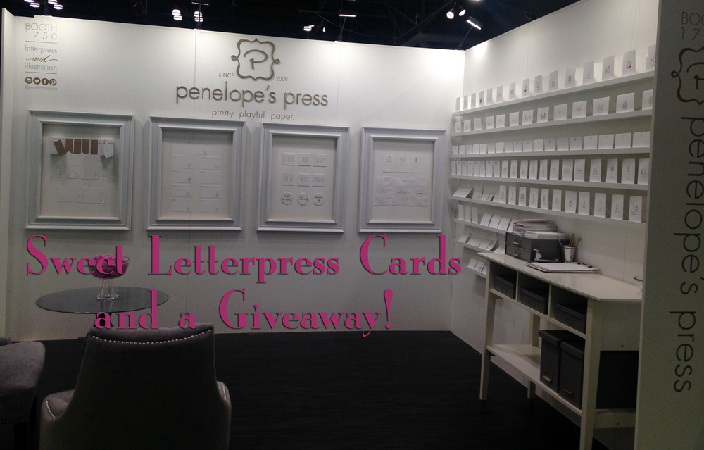 This was Penelope's Press Booth - isn't is sweet and so nicely organized?