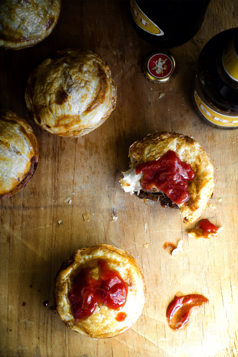 These mini Steak and Ale Pics are classic British fare and we think great as a small but substantial bite of food!