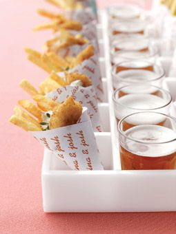 This mini Fish & Chips paired with a tiny microbrew stole our heart on the cuteness factor!