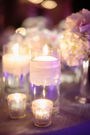 This lace candle detail really finishes off the table design and adds such an elegant touch!