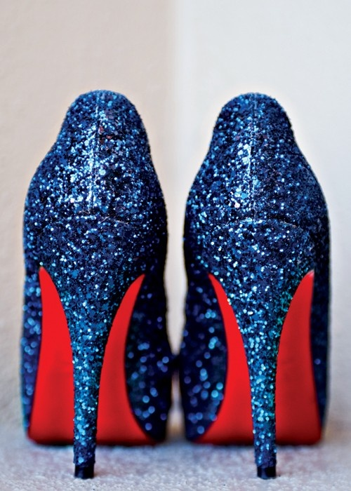 Need we say anymore? I mean, Louboutins are already a win but BLUE glitter?? Yes please!!