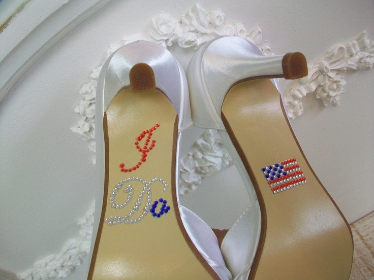 These are fun accents for your shoes if you wish to have more red, white and blue!