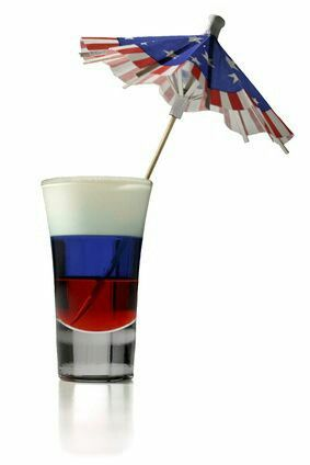 Maybe you just want a little sweet sip of something Patriotic? This layered shot is perfect for you!