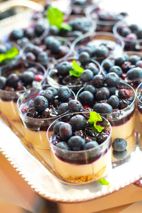 We love the individual size of these mini cheesecakes. The clear cups ...