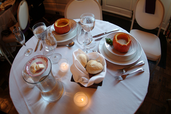 We love that one of our past brides wanted to have Pumpkin Soup in a baby pumpkin!