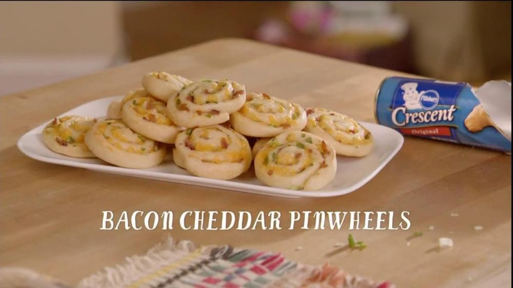 Pillsbury Bacon Cheddar Pinwheels - this is one of my favorite appetizers to make and the combinations of fillings are endless but the classic bacon & cheddar never disappoints!