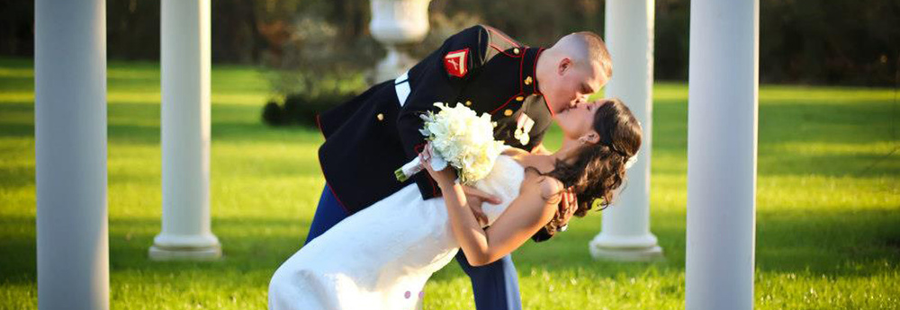 Brides Across America offers a free bridal gown to qualified military bride.We think that is a pretty special and wonderful company!!