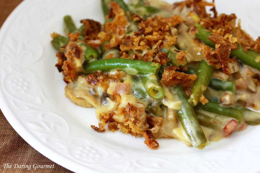 Ultimate Green Bean Casserole (from scratch!) - Even though I've never had this Thanksgiving staple, I might be tempted to try and make this ultimate (and from scratch!) version of the classic Green Bean Casserole! I think I'd make extra crispy onions to snack on because they look so good!