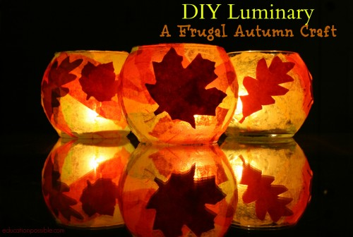 DIY Leaf Luminary