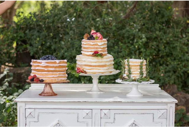 Trio of Naked Cakes