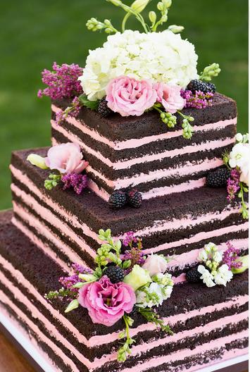 Naked Square Chocolate Cake
