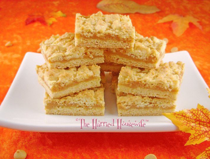 Butterscotch Bars  - I've been seeing a lot of butterscotch inspired recipes lately which makes me think that Butterscotch is the new Caramel. I love both so it's not a problem but this recipe for Butterscotch Bars sounds very intruiging. I love bar cookies because they usually bake pretty quickly and they ship very well.