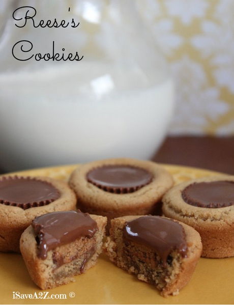 Reese's Cookies  - I'm a big fan of the Hershey Kiss Blossom cookie but I feel like EVERYONE makes this cookie! This cookie seems to be a variation on that beloved cookie but with an extra step of using a Reese's Peanut Butter Cup. You had us at Reese's!