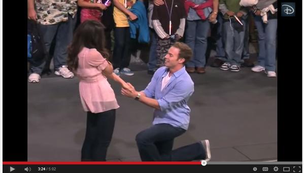 Disneyland Marriage Proposal Surprise