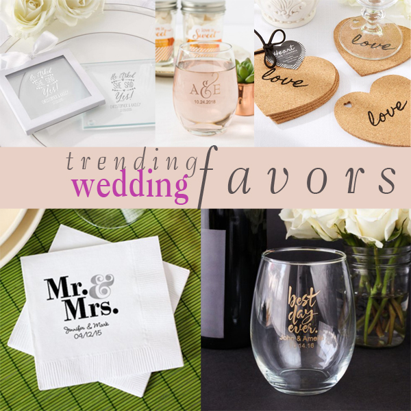 trending tuesday popular wedding favors