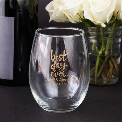 if you are offering some infused waters or lemonade at your wedding wouldnt these 15 ounce glasses look so cute by the beverage station love