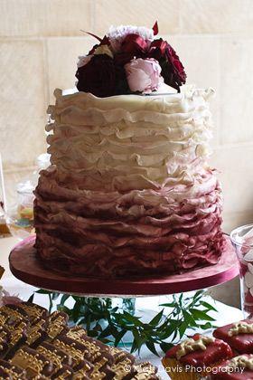 Maroon Cake Decorations