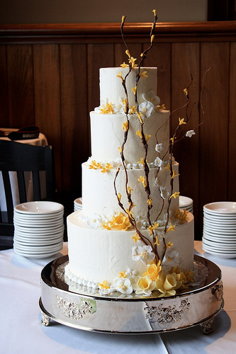 forsythia wedding cake.jpg