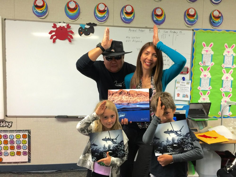 #SpenceTheShark Presentation to So Pasadena Elementary School class